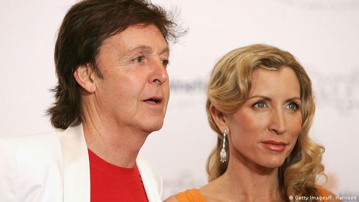 Paul McCartney und seine Frau Heather Mills