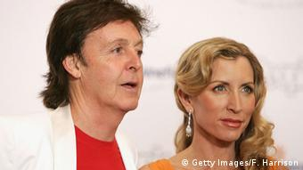 Paul McCartney und seine Frau Heather Mills