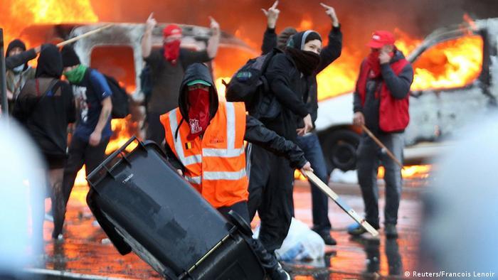 Массовыми беспорядками закончились протесты в Брюсселе