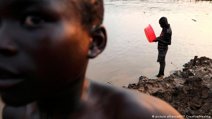 Goldschürfer im Kongo