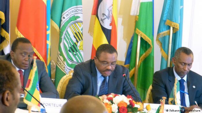 Süd Sudan Gipfel im Präsidentenpalast von Addis Abeba