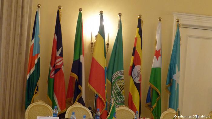 Fahnen der IGAD-Mitgliedsländer (Yohannes G/Eziabhare)