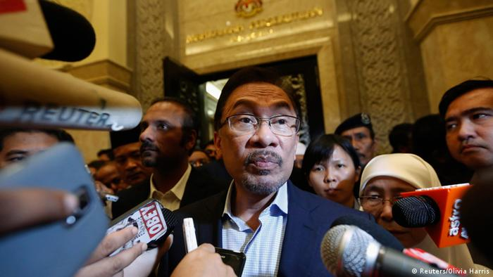 Malaysia Oppositionsführer Anwar Ibrahim Justizpalast Putrajaya 07.11.2014