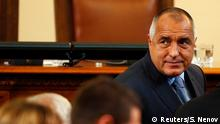 Bulgaria's newly-elected Prime Minister Boiko Borisov looks on after a session of the parliament in Sofia November 7, 2014. Bulgaria's parliament on Friday endorsed the formation of a minority coalition government led by GERB party leader and new Prime Minister Borisov. REUTERS/Stoyan Nenov (BULGARIA - Tags: POLITICS ELECTIONS)