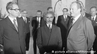 Haile Selassie with Chancellor Willy Brandt in Bonn in 1974