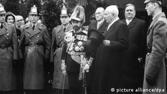 Äthiopischer Kaiser Haile Selassie zu Besuch in Bonn 1954