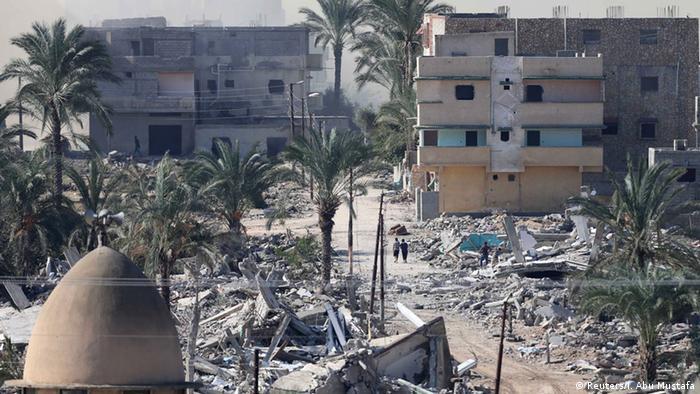Ägypten baut a der Grenze zu Gaza