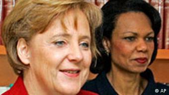 Condoleezza Rice in Berlin Angela Merkel