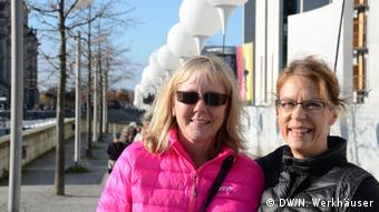 Swedish toursits Jenny and Ulrika