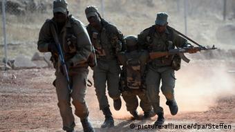 Soldaten der malischen Armee bei einer Übung
