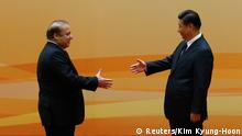 Pakistans Premierminister Nawaz Sharif in Peking