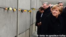 Berlin Feierlichkeiten am 9. November 25 Jahre Mauerfall Merkel