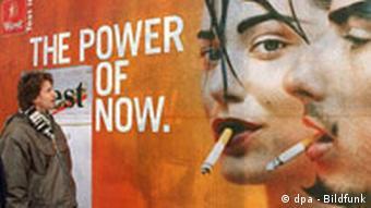 Tabakwerbung in Deutschland Plakat