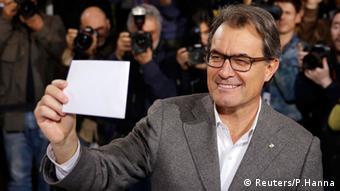 Katalonien Unabhängigkeit Abstimmung Artur Mas 9. Nov. 2014