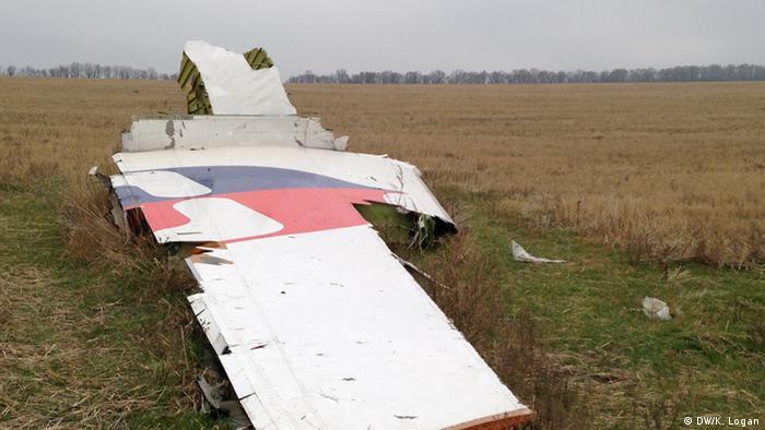 Destroços do voo MH17, na Ucrânia