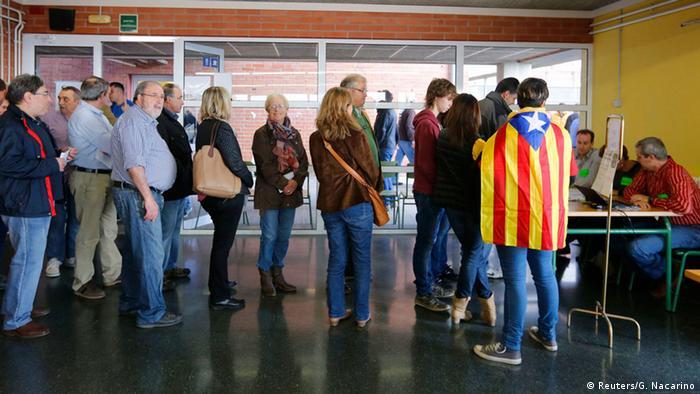 Опрос в Барселоне о независимости Каталонии