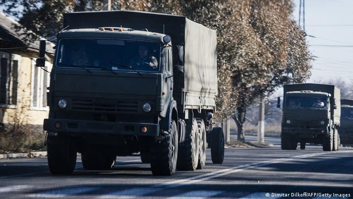 Неопознанные грузовики на территории Украины