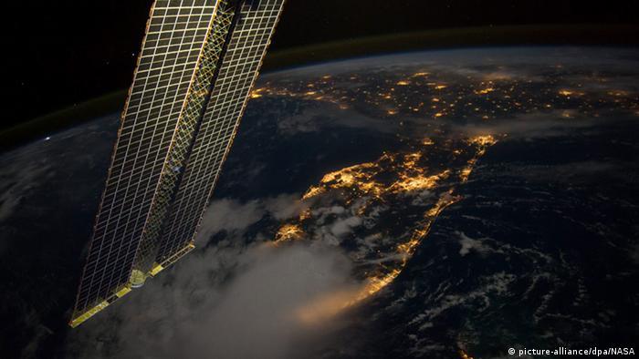 ISS Blick auf die Erde