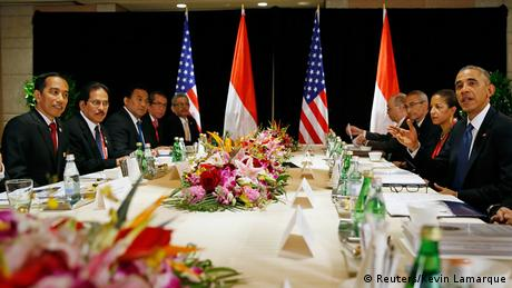 President Barack Obama Joko Widodo APEC Gipfel Peking