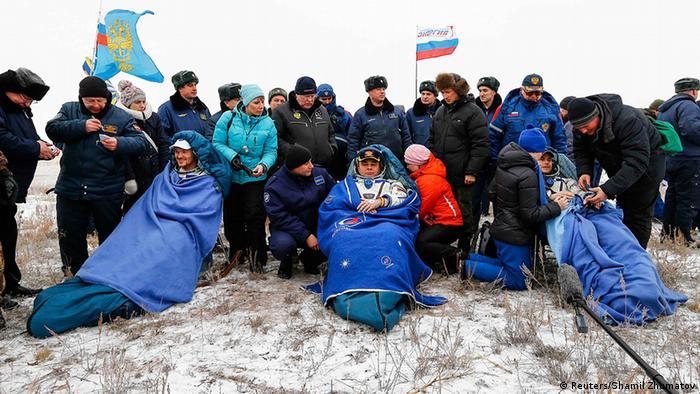 Alexander Gerst Maxim Surayev Reid Wiseman ISS Landung Kasachstan