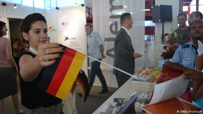Der deutsche Pavillon auf der Messe FIHAV in Havanna