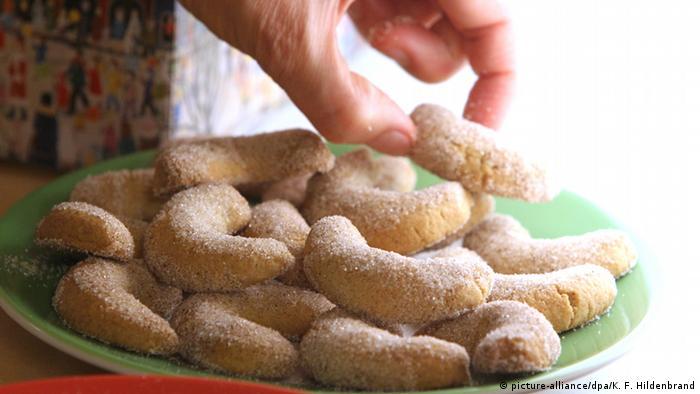Bolachinhas polvilhadas com açúcar