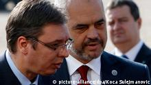 Albaniens Premier Edi Rama betritt serbischen Boden