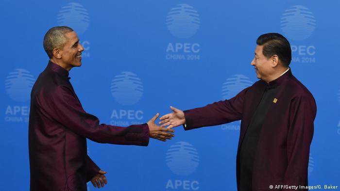 Obama bei Xi 10.11.2014 APEC Gipfel