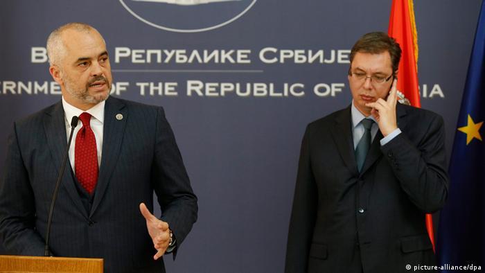 Edi Rama und Aleksandar Vucic in Belgrad 10.11.2014