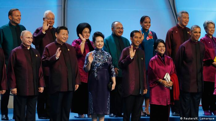 APEC Gipfel Gruppenfoto 10.11.2014 Peking