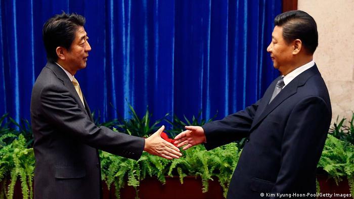 APEC Gipfel China 2014 Xi Jinping Shinzo Abe