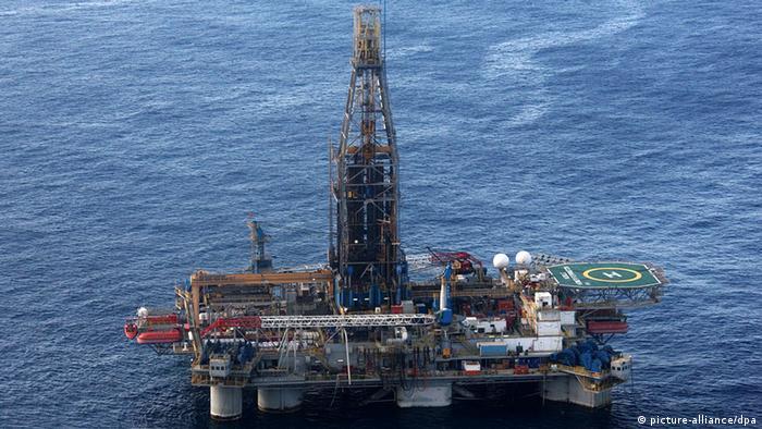 Zypern Energie Gas Bohrplattform Homer Ferrington im Mittelmeer