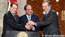 Ägypten Zypern Griechenland Energietreffen in Kairo Fattah al-Sissi Samarans, Anastasiadis