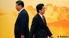 APEC Gipfel Shinzo Abe und Xi Jinping 11.11.2014 Peking