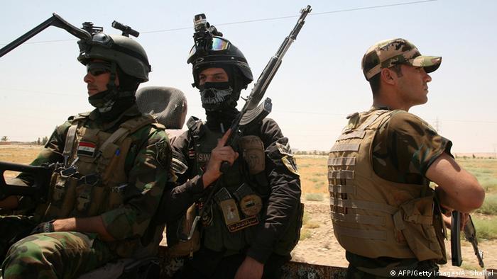 Irakische Soldaten in der Anbar Provinz August 2014