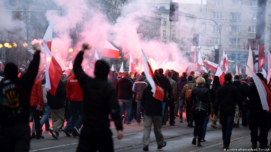Nationalist riots at Poland Independence Day celebrations in Warsaw