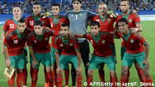 Players of the Morocco's football team pose before the friendly match between Morocco and Libya on September 7 , 2014 in the Moroccan city of Marrakesh. AFP PHOTO / FADEL SENNA . (Photo credit should read FADEL SENNA/AFP/Getty Images)
