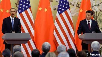 Barack Obama und Xi Jinping Pressekonferenz in Peking 12.11.2014