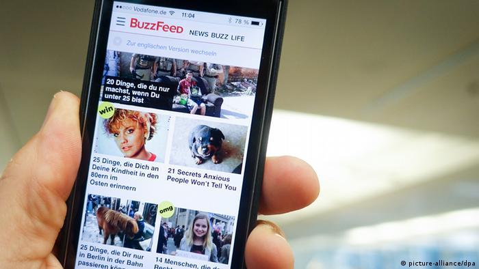 Der deutsche Internetauftritt des US-amerikanischen Online-Portals Buzzfeed (picture-alliance/dpa)
