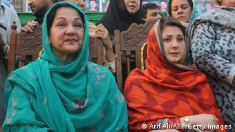 Kulsoom Nawaz Maryam Nawaz Sharif 2013 (Arif Ali/AFP/Getty Images)