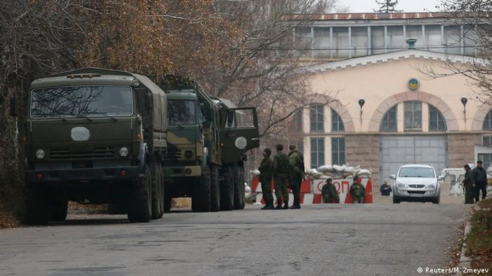 Военная техника на улицах Донецка