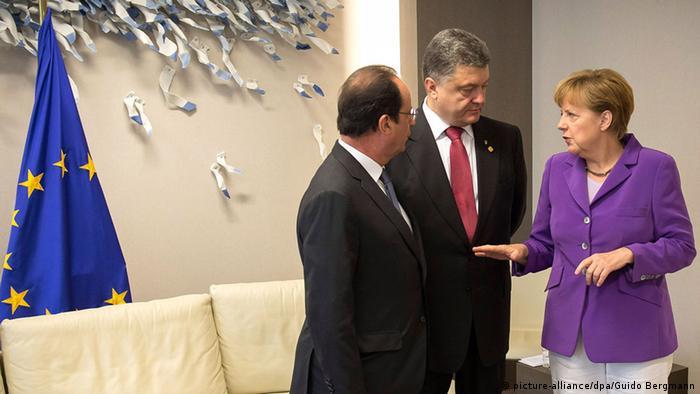 EU-Gipfel Brüssel Hollande Poroschenko Merkel 27.06.2014