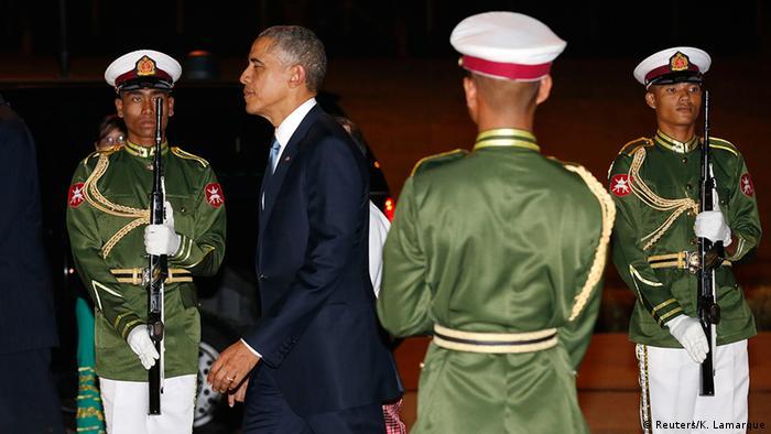 Myanmar Asean-Gipfel in Naypyidaw Ankunft Barack Obama