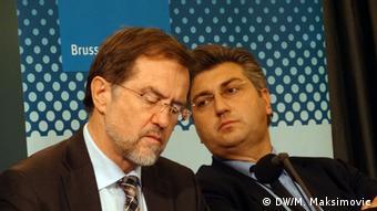 Brüssel Konferenz Regionale Stabilität Alojz Peterle und Andrej Plenkovic