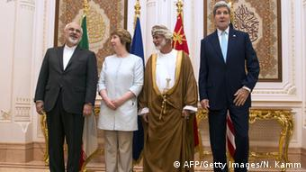 Trilaterales Atom-Treffen in Oman, 9.11. 14 (Foto: AFP / Getty Images)