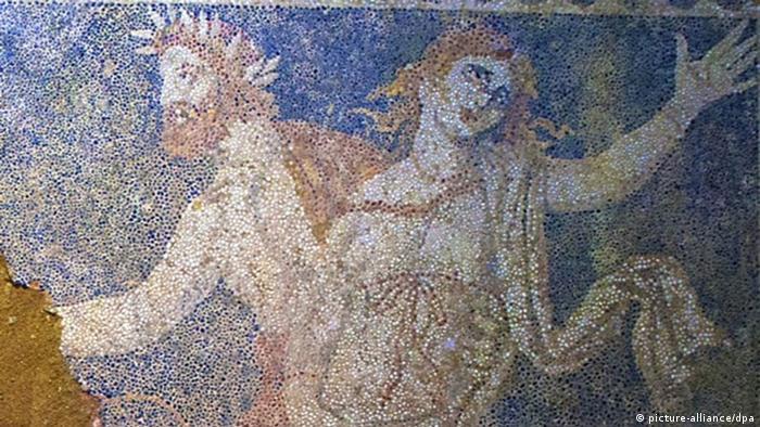 Mosaik Fund bei Hügel Kasta in der Nähe von Amphipolis
