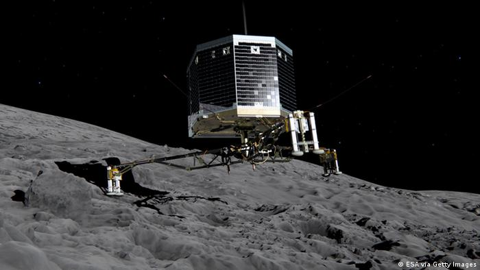 Philae auf Komet 67P/Tschurjumow-Gerassimenko ILLUSTRATION (Foto ESA via Getty Images)