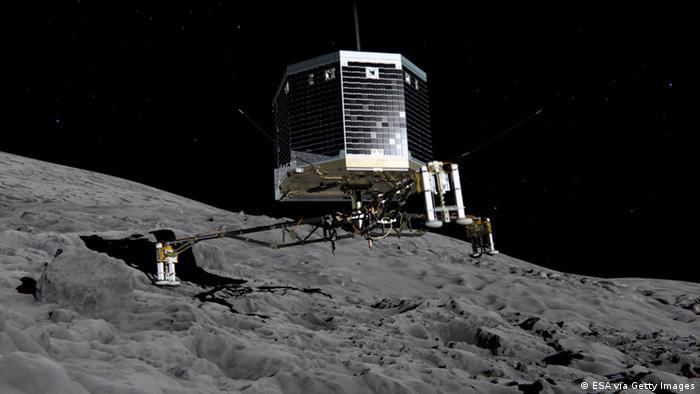 Philae auf Komet 67P/Tschurjumow-Gerassimenko ILLUSTRATION