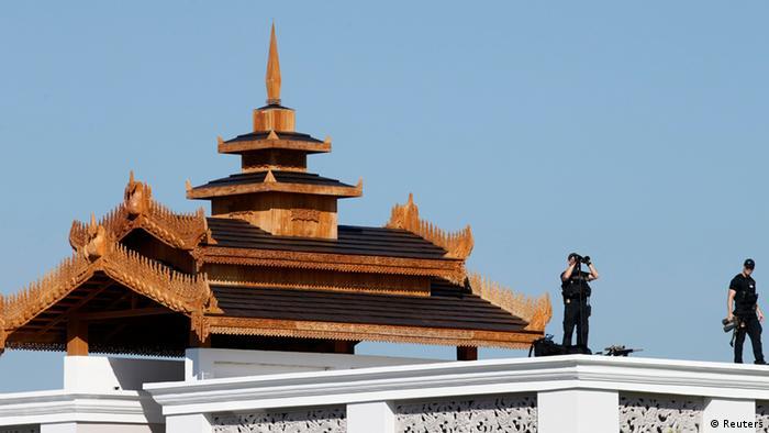 Sicherheitsmaßnahmen Hotel Barack Obama ASEAN Gipfel in Myanmar 13.11.2014
