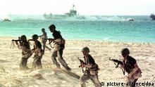 Ägyptische Soldaten bei Truppenübung Archiv 1999